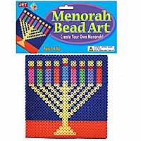 Bead Art Menorah