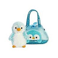 Pet Carrier Blue Penguin