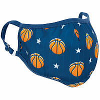 Basketball And Stars Face Mask - Children'S Size