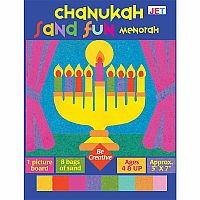 Chanukah Sand Fun Menorah