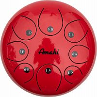 "Steel Tongue Drum - 8"" Red"